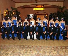Masquerade themed Quinceanera ~ with damas and chambelanes in full glam mask wear~ Love this picture!