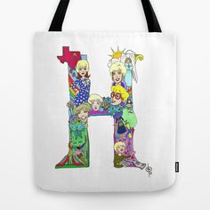 And this one is for my Mama!  H is for Henrilu Tote Bag by Dan Paul Roberts - $22.00