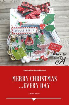 scrapbooking - christmas - calendar Christmas Scenes, Christmas Time, Merry Christmas, Christmas Calendar, Christmas Scrapbook, Desk Calendars, Business Card Holders, Jingle Bells, December