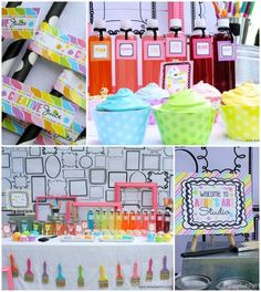Girly Art Party With So Many Cute Ideas via Kara's Party Ideas | http://partyideacollectionsconner.blogspot.com