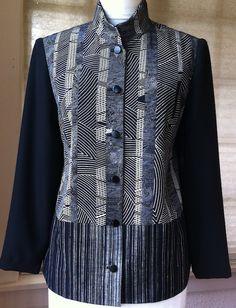 Kimono silk pieced jacket