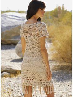 crochelinhasagulhas: vestido de ganchillo de color beige
