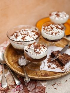 Triple chocolate trifle