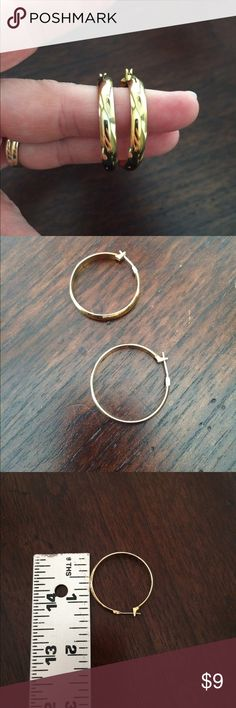 Gold hoop earrings. Great quality and condition. Gold hoop earrings. Great quality and condition. Dillards Jewelry Earrings