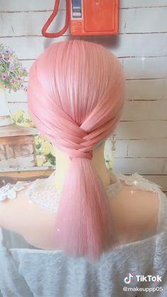Work Hairstyles, Easy Hairstyles For Long Hair, Pretty Hairstyles, Braided Hairstyles, Hair Up Styles, Medium Hair Styles, Elegant Wedding Hair, Hair Videos, Hair Hacks
