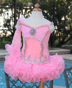 glitz pageant dress cupcake style thepageantboutique.com Glitz Pageant Dresses, Pagent Dresses, Little Girl Dresses, Girls Dresses, Toddlers And Tiaras, Cute Fashion, Dress Me Up, Diy Clothes, Pretty Dresses