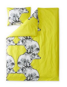 Otso Duvet Cover Set for Children - Finlayson webstore North Europe, Shopping Hacks, Duvet Cover Sets, Mammals, Fall Winter, Autumn, Art Pieces, Textiles, My Favorite Things