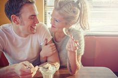 Ice cream fun! Photo by Stephanie Lindsay Photography. #engagement