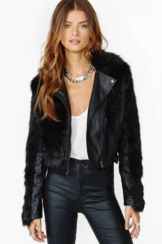 Unruly Faux Leather Moto Jacket