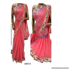 Piramalls Mirror Work Saree
