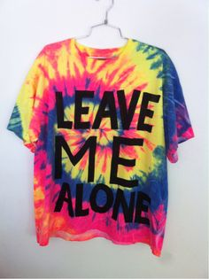 YARD666SALE leave me alone tie dye t shirt YARD666SALE