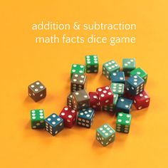Addition and Subtraction Dice Game to Practice Math Facts Subtraction Games, Addition And Subtraction, Home Learning, Learning Games, Games For Kids, Games To Play, Addition Worksheets, Early Math