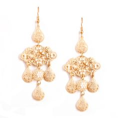 Beandra Earrings - $30.00 A series of hanging medallions punctuated by tiny white seed pearls, they have a look reminiscent of a gentler time, gone by. http://margaretlavish.com/margaret-lavish-jewelry/earrings/beandra-earrings/