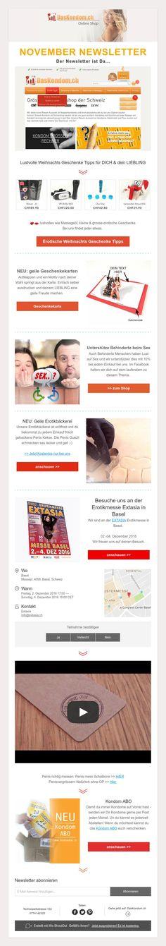 NOVEMBER NEWSLETTER  Der Newsletter ist Da... Shops, Tantra, November, Christmas 2016, Switzerland, Erotica, Presents, Unique, Woman