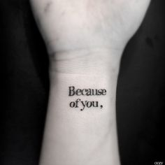 'Because of you' by OOZY