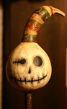 Painted gourd by Cori Sampson