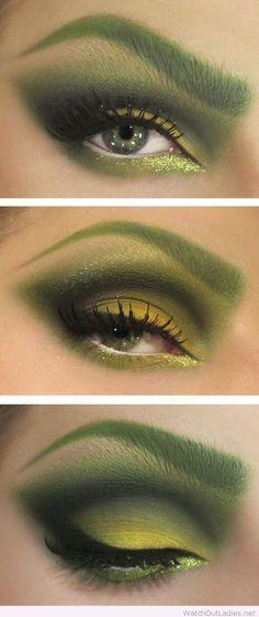 Poison Ivy Halloween makeup idea