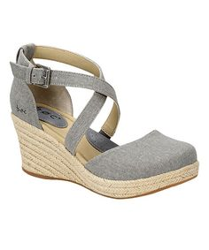 9ff6d230a851 Take a look at this Cloudy Gray Canvas Bree Espadrille - Women today!