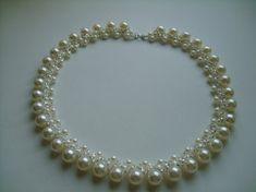Collar de perlas de perlas de tejer Esquema
