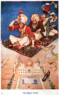 Monro S. Orr - Illustrations for Stories from the Arabian Nights based on a translation by Edward William Lane; selected & edited by Frances Jenkins Olcott - Frontispiece [3 of 16]