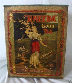 I needa cuppa.  Art, Books, Tea: Antique Tea Tins ~