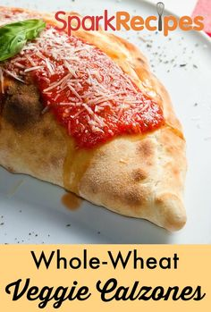 You want pizza, but you want to skip the greasy pepperoni and sausage. Why not try these whole wheat veggie calzones? A fun new take on pizza, your whole family will love filling their individual pizzas with all their favorite healthy vegetables for dinner tonight.
