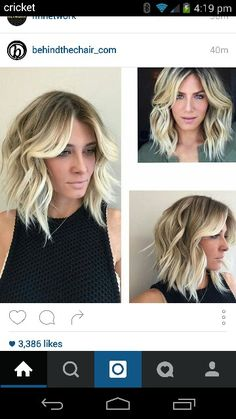 long Bob blonde balayage