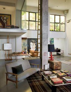 stunning home and studio of Spanish painter Enrique García Lozano