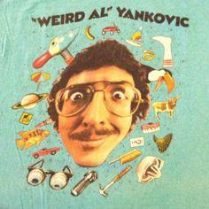 Vintage 1985 Weird Al Yankovic Stupid concert tour t-shirt