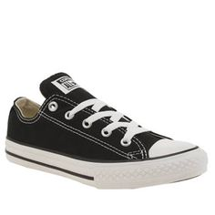 Converse Black All Star Lo Unisex Junior Listen up everybody! The famous Converse All Star Lo in black is now available for one and all. This firm favourite is a versatile lace up style that features a canvas upper with a rubber sole and toe http://www.MightGet.com/january-2017-13/converse-black-all-star-lo-unisex-junior.asp