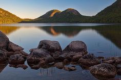 Steve Gingold sent in this photo of Jordan Pond and the Bubble Mountains.