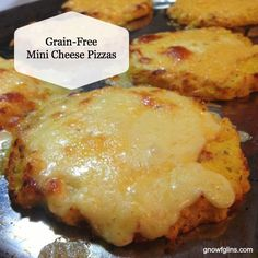 Grain-Free Mini Cheese Pizzas | We're still mostly avoiding grains for gut and allergy issues. Yet we're still eating pizza — thanks to this awesome cauliflower-based pizza crust. The first time I made it, my family and I both thought it probably wouldn't be very good. Turns out that mild-flavored cauliflower dresses and flavors up very well into a pizza crust. | TraditionalCookingSchool