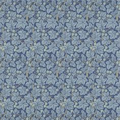 Bramble Wallpaper - Indigo - William Morris & Co Archive III Wallpapers Collection Interior Wallpaper, Paper Wallpaper, Wallpaper Online, Bathroom Wallpaper, Charcoal Wallpaper, Morris Wallpapers, Decorative Tile, Wall Treatments, Designer Wallpaper
