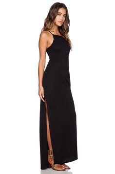 Lanston Apron Maxi Dress in Black | REVOLVE