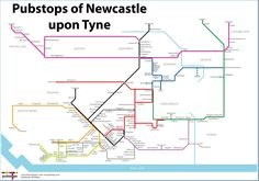 Tube-style map shows biggest potential pub crawl in Newcastle