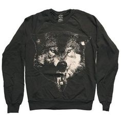 ACTUAL PAIN - Acid Wolf // Crew Neck Sweater // Black