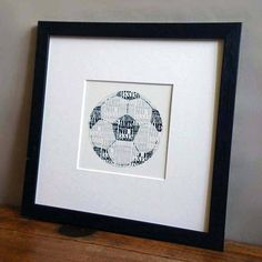personalised football print by letterfest | notonthehighstreet.com