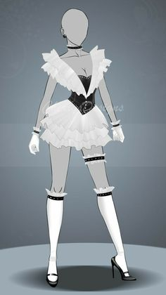 (closed) Auction Adopt - Outfit 501 by CherrysDesigns on DeviantArt - (closed) Auction Adopt – Outfit 501 by CherrysDesigns - Clothing Sketches, Dress Sketches, Drawing Anime Clothes, Dress Drawing, Hero Costumes, Anime Costumes, Fashion Design Drawings, Fashion Sketches, Drawing Fashion