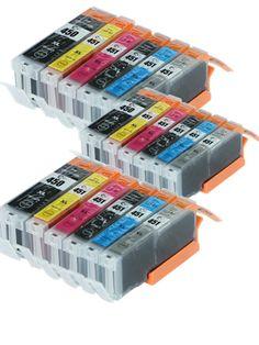 [Visit to Buy] 18X Printer Ink Cartridges For Canon 451 PIXMA IP7240 for Cli-451 PGI450 PGI-450XL PIXMA MG5440 MG5540 IX6540 IX6840 IP8740 #Advertisement