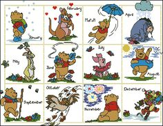 Pooh Calendar 2 with x-stitch charts. Gallery.ru / Фото #1 - Calendario 1 - cnekane