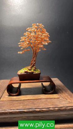 Wire Art Sculpture, Tree Sculpture, Wire Sculptures, Copper Wire Crafts, Copper Wire Art, Diy Canvas Art, Diy Wall Art, Bonsai Wire, Handmade Wire Jewelry