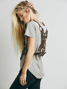 Free People Leather Harness Vest, $98.00