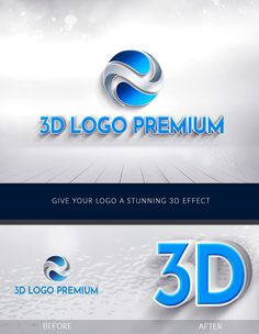 3D Logo Premium- Give your logo an amazing 3D effect Letter Logo Maker, 3d Type, 3d Letters, 3d Logo, Best Logo Design, Letterhead, Cool Logo, Company Names, Iphone Wallpaper