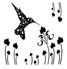 vintage hummingbird stencil & template craft,fabric,glass,furniture,wall art in Crafts, Multi-Purpose Craft Supplies, Stencils & Templates | eBay
