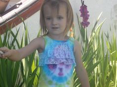 Cute frilly tie dye tank for a baby girl