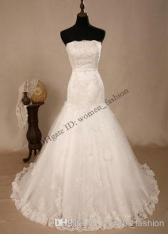 Cheap Wedding Dress - Discount Fashion Custom Made Beach Dress White Or Ivory Online with $208.38/Piece | DHgate