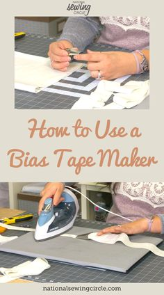 Bias tape or straight grain tape can be used on many different sewing projects as a way to neatly finish raw edges. Depending on the size of project you are making, making your own bias tape or straight grain tape can be time consuming. Ashley Hough shows you how to use a bias tape maker to save some time. Sewing Blogs, Sewing Hacks, Sewing Tips, Sewing Ideas, Quilt Tutorials, Sewing Tutorials, Sewing Patterns, Clothes Patterns, Small Sewing Projects