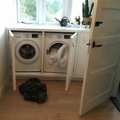 Home Interior, Interior Design, Interior Ideas, Storage Hacks, Next At Home, Stacked Washer Dryer, Laundry Room, Washing Machine, Home Appliances