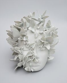 Porcelain China Mugs Porcelain Jewelry, Porcelain Ceramics, Ceramic Art, Fine Porcelain, Porcelain Tiles, Painted Porcelain, Ceramic Bowls, Fantasy Craft, Sculpture Head