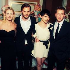OUAT cast: Jenn Morrison, Jamie Dornan, Ginny Goodwin, Josh Dallas